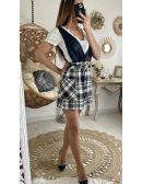 """Ma robe effet 2 pièces """"cuir & tweed"""""""