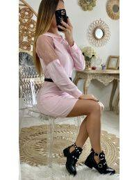 "Ma robe pink ""dentelle & capuche"""