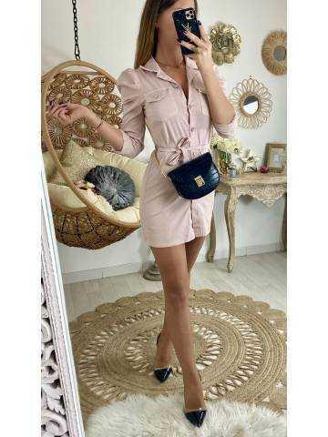 """Ma robe en jeans pink """"boutonnée"""""""