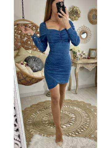 Ma jolie robe en jeans froncée