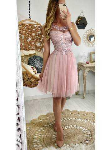 "Ma superbe robe rose pâle ""tulle et sequins"""
