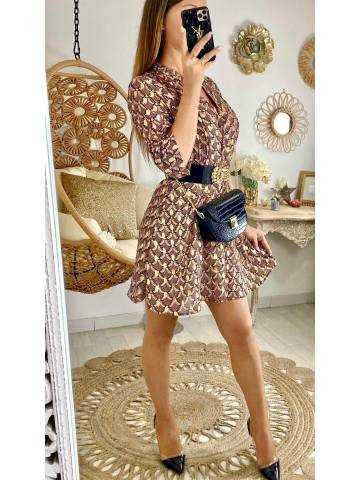 Petite robe imprimé & gold touch