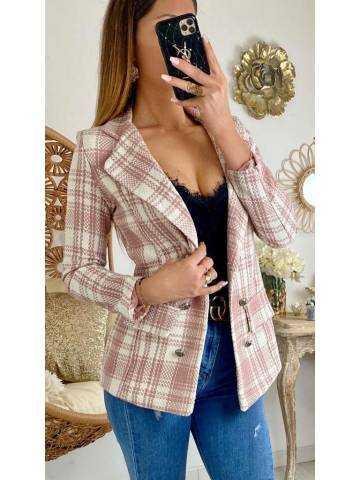 "Mon joli blazer ""pink tweed"""