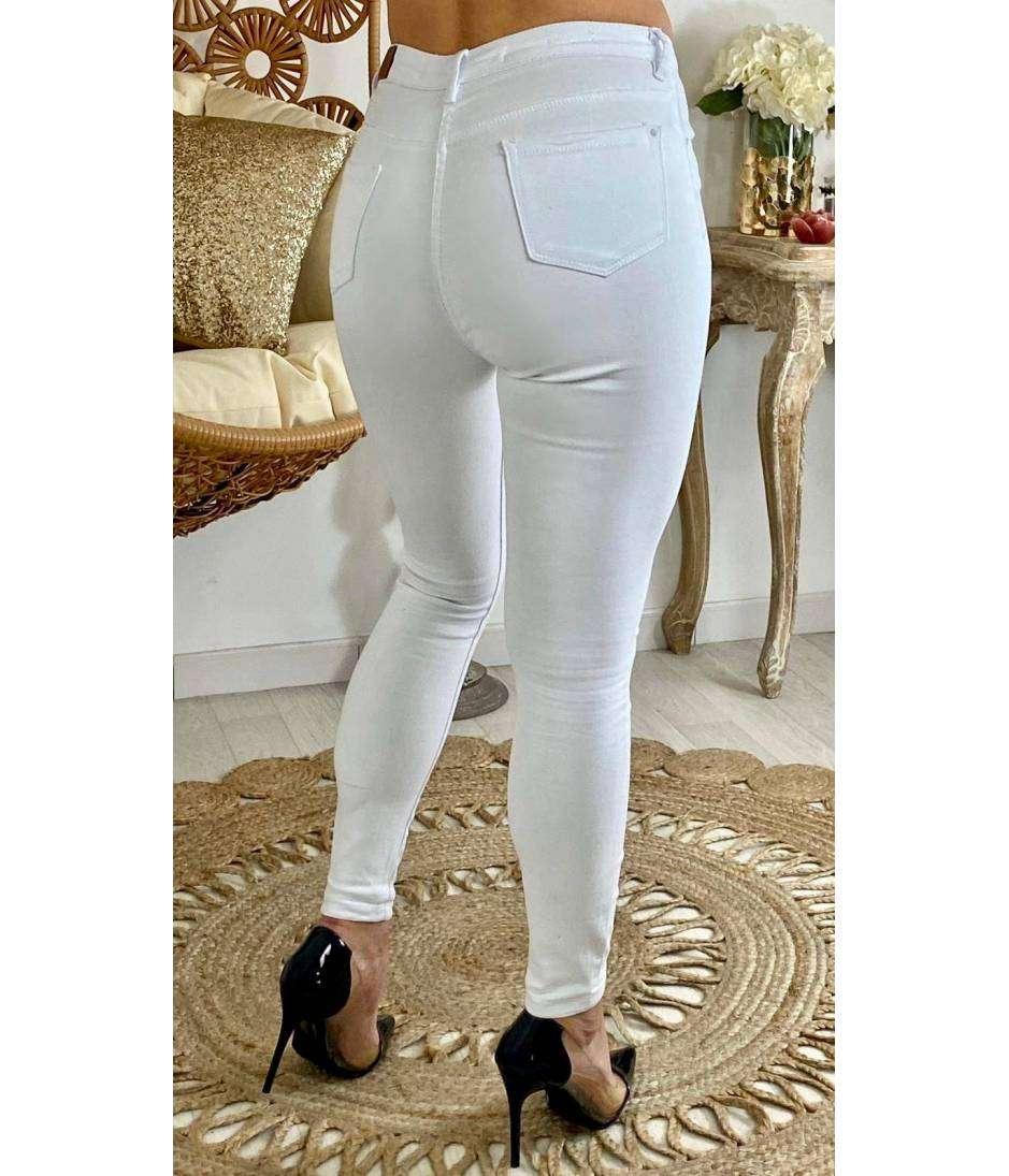 """Mon jeans blanc push up """"basic slim"""""""
