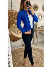 """Ma veste courte """"officier"""" bleu roi"""