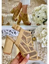 Mes sandales beige ajourées