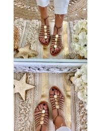 Mes jolies sandales lanières & gold