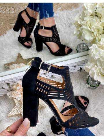 Mes sandales black & suede