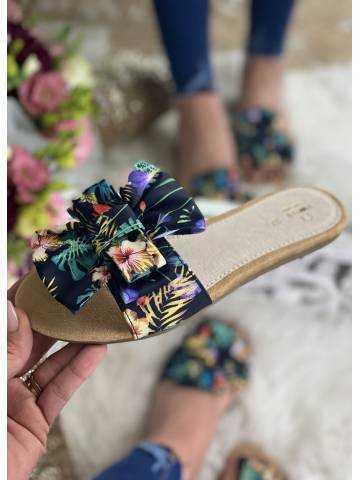 Mes jolies sandales tropicales cuir*