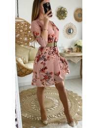 Ma robe cache coeur rose fleurie