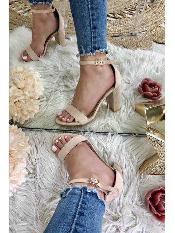 Mes sandales à talons nude
