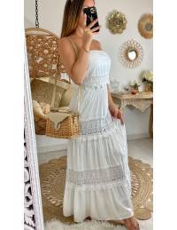 """Ma robe longue blanche """"bustier & broderies"""""""