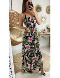 "Ma jolie robe longue ""fleurs tropicales"""