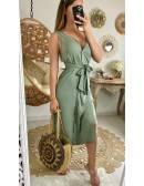 """Ma jolie robe fluide kaki """"boutonnée et taille nouée"""""""
