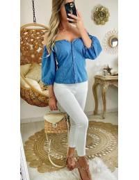 Ma jolie blouse en jeans boutonnée