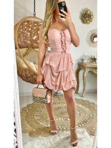 """Ma jolie robe rose pâle """"bustier et froufou"""""""