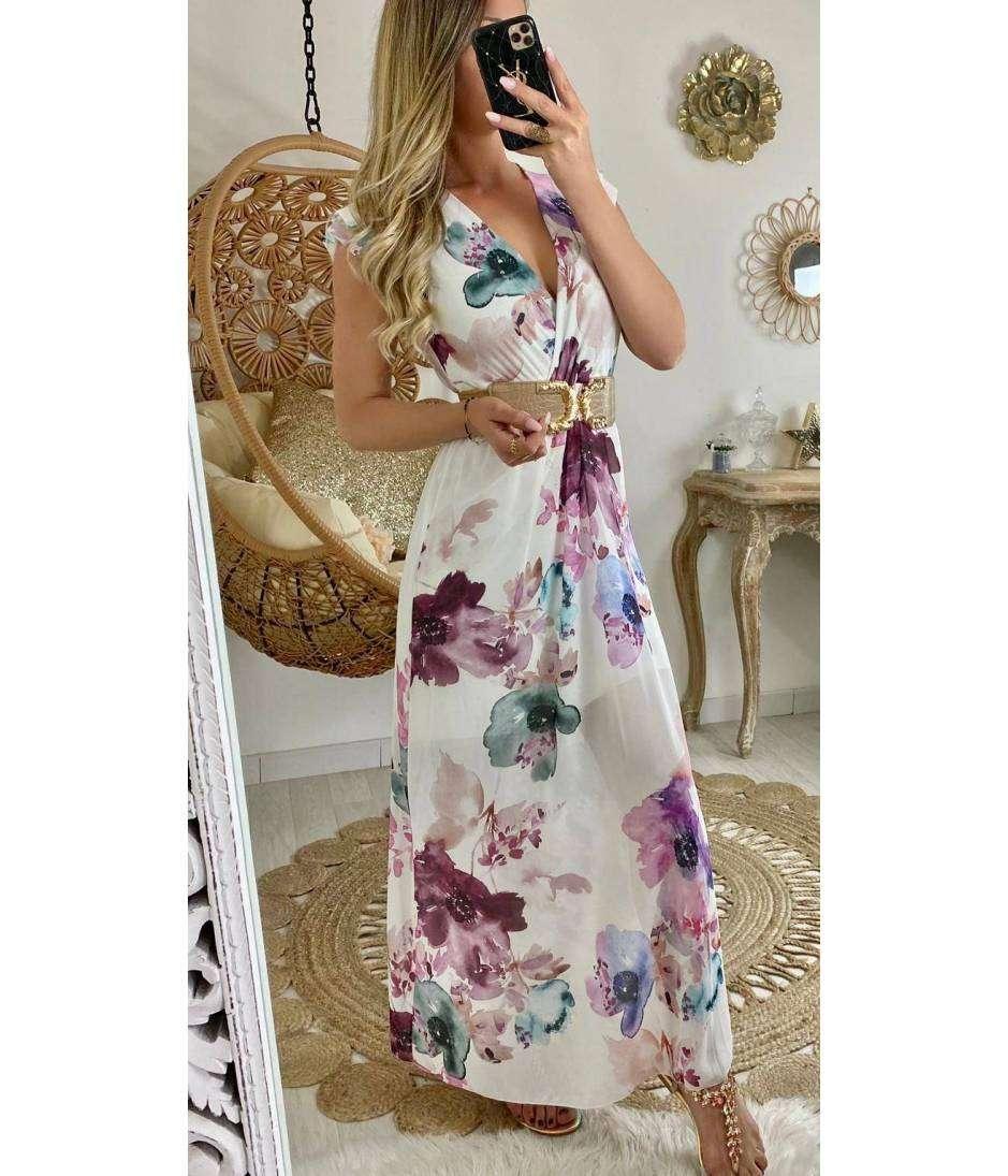 "Ma jolie robe longue blanche ""aquarelle"""