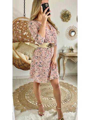 "Ma jolie robe rose pâle ""spring flowers"""