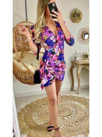 Ma superbe robe flowers purple