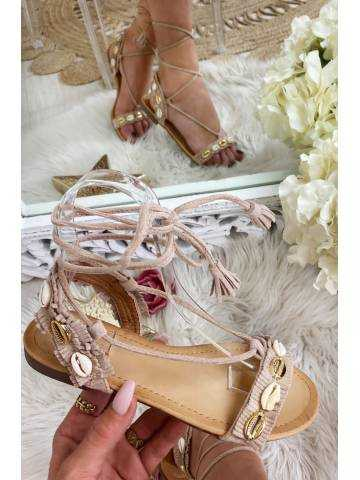 Mes jolies sandales beige coquillage