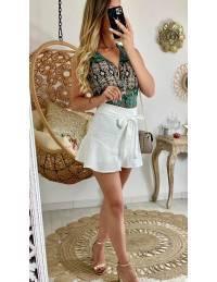 Ma jupe short blanche et volant