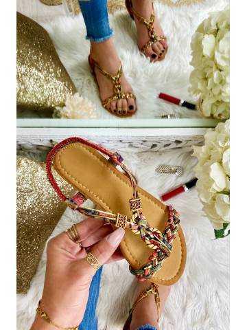 """Mes jolies sandales """"imprimé & gold"""""""
