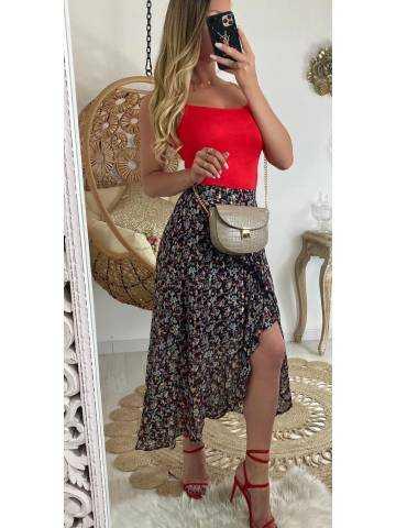 Ma jolie jupe longue black & flowers