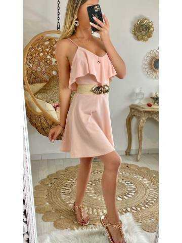 "Ma jolie robe rose pâle ""col volant"""