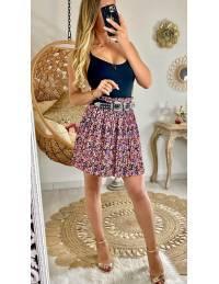 """Ma jupe plissée """"purple & pink flowers"""""""
