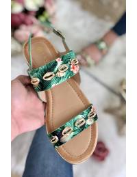 Mes sandales jungle et coquillage