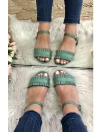 """Mes petites sandales """"vert aqua"""""""