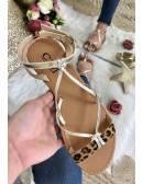 Mes jolies sandales lanières léo & gold