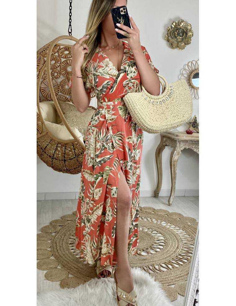 Ma Robe Corail Cache Coeur Wide Flowers Mylookfeminin Un Look Un Concept Un Prix