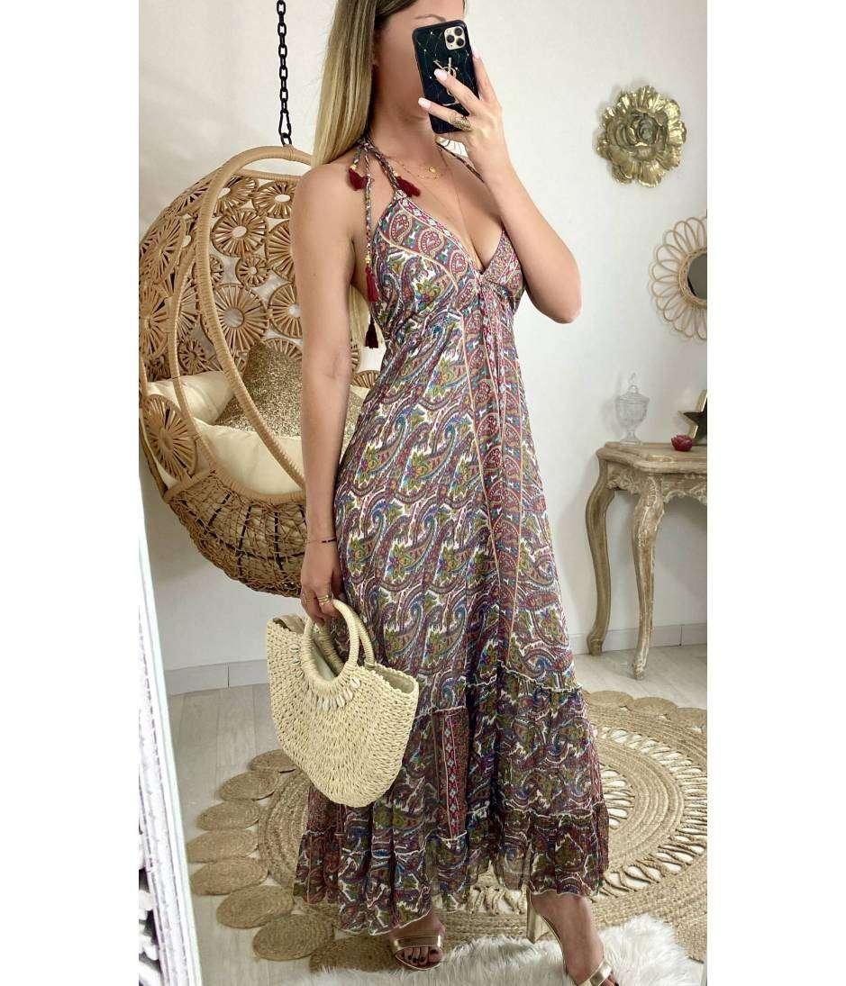 Ma jolie robe longue imprimée bohème