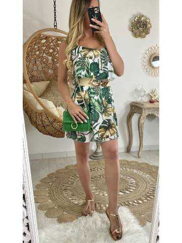 "Ma robe longue jungle en voilage ""col volant"""