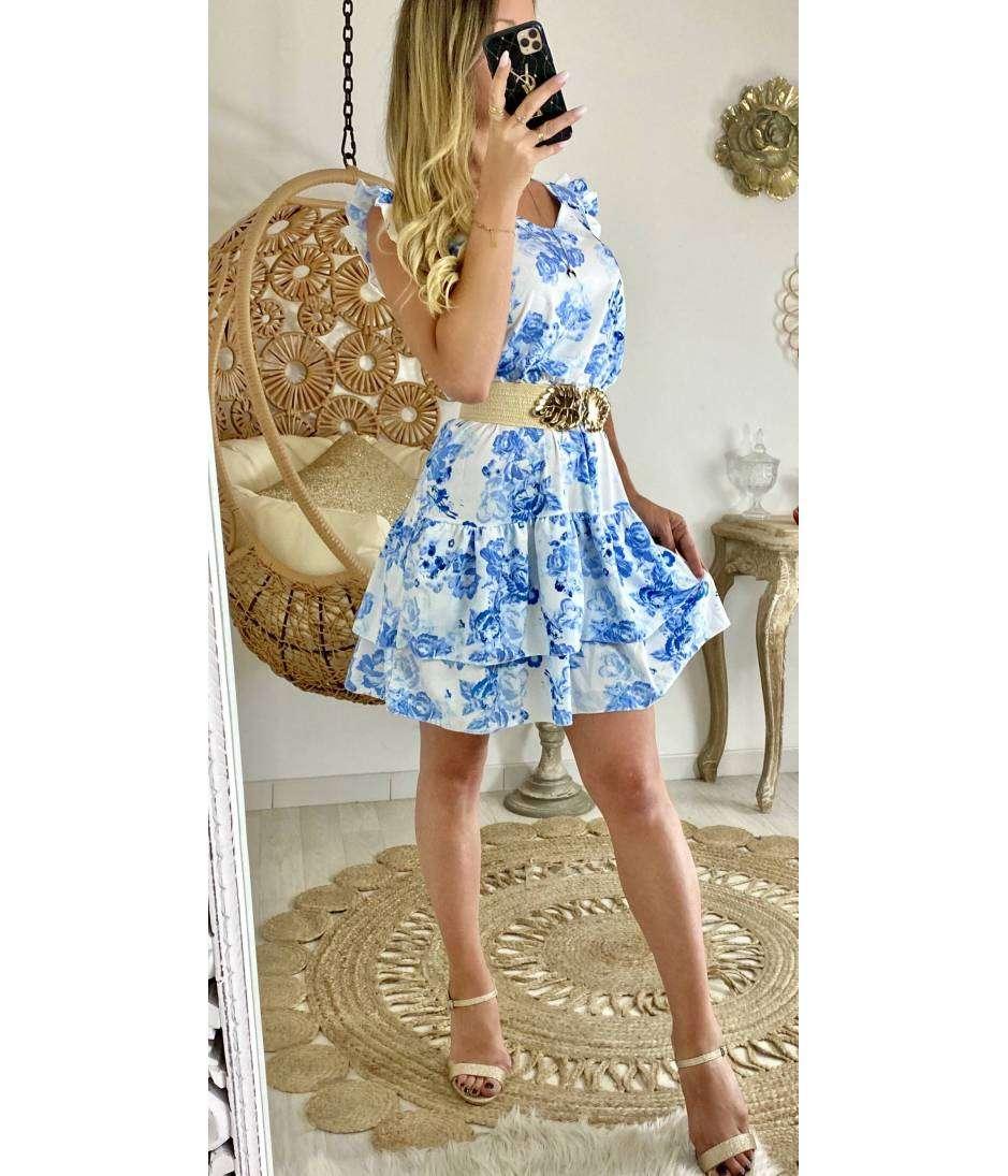 Ma petite robe blue flowers