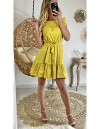 Ma robe moutarde et volants