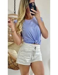 Mon short blanc taille haute