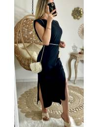 Ma robe longue basic black épaulée