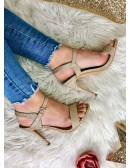 "Mes sandales à talons ""gold glitter"""