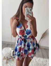 """Ma combi-short blanche """"so flowers"""""""