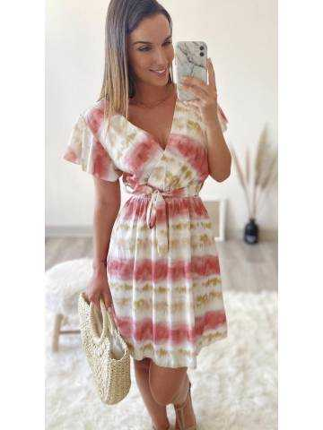 """Jolie robe cache coeur pink """"tie and dye"""""""