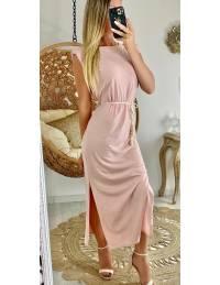 Ma robe longue basic pink épaulée