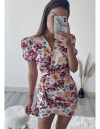 """Ma jolie robe blanche fleurie """"froncée et drapée"""""""