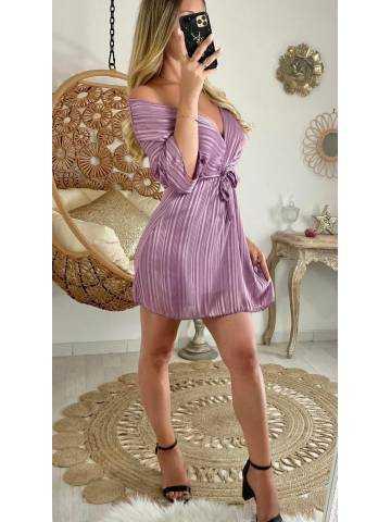 Ma robe cache coeur voilage & purple