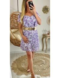 Ma jolie robe flowers purple & volants