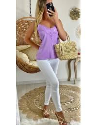 """Mon joli top violet """"boutonné"""""""