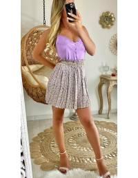 """Ma jupe plissée """"purple & flowers"""""""