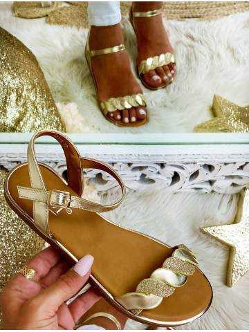 Mes sandales gold tressées