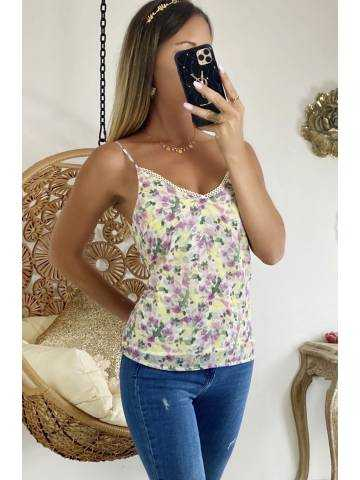 Mon superbe top flowers touche & yellow